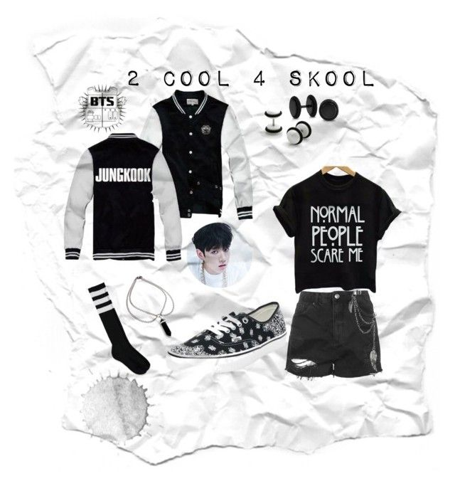 """""""Kookie 2cool4skool"""" by vinne on Polyvore featuring Topshop, Bling Jewelry and Forever 21"""
