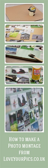 How to make a huge, cheap photo collage. Free layout templates to