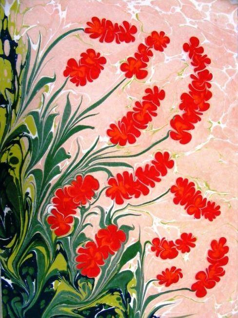 Oylum - Boyama ©2008 Esengul Inalpulat tarafından -            Ebru, Marbling art
