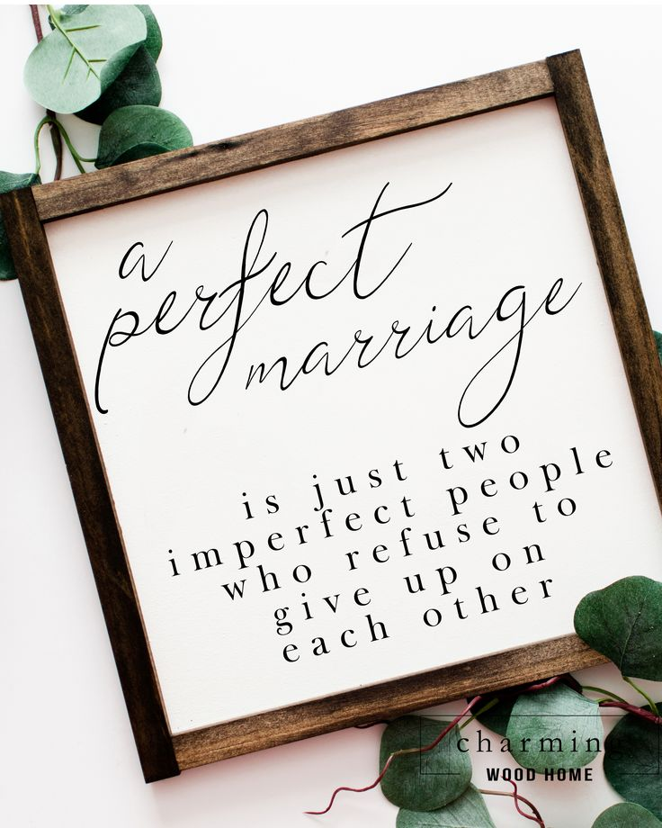 A Perfect Marriage is Just Two Imperfect People 2 | Love Wood Sign | Wedding Wood Sign – Kelly Quinlan