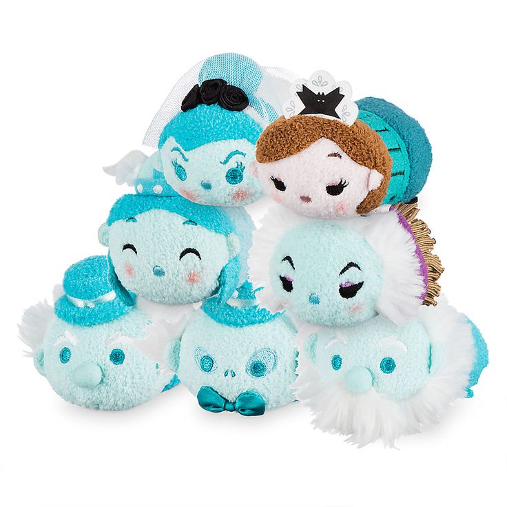 Complete set of Haunted Mansion tsum set.