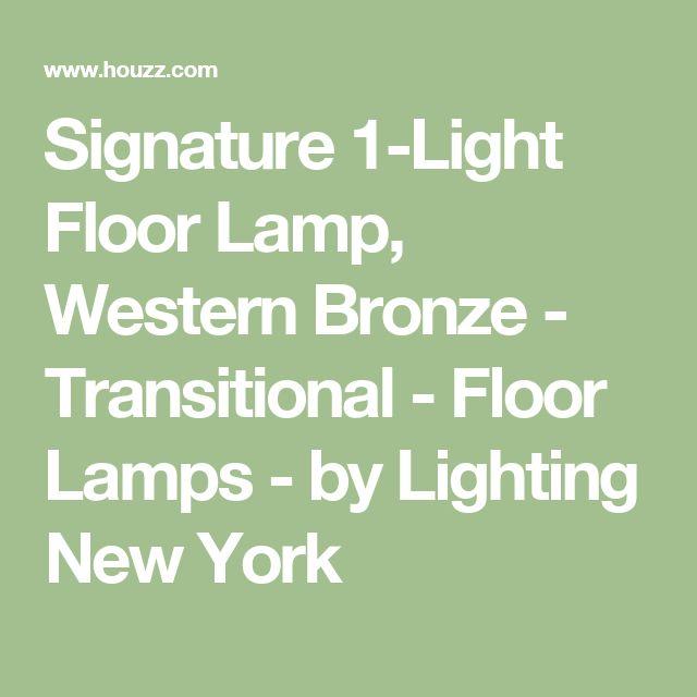 Signature 1-Light Floor Lamp, Western Bronze - Transitional - Floor Lamps - by Lighting New York