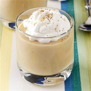 Homemade Butterscotch Pudding Recipe -A homemade pudding stirs memories of grandmothers and their secret knowledge of how to change milk and eggs into creamy textures they poured into dessert glasses. The essence of butterscotch adds a caramel-sweet touch. —Teresa Wilkes, Pembroke, Georgia