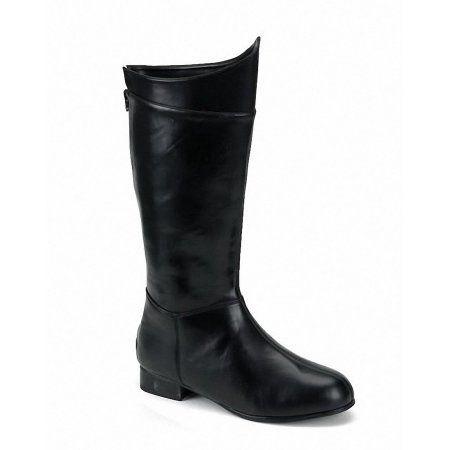 Black Shazam Superhero Mens Costume Boots, Size: Large 12-13