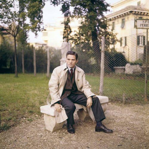 Pier Paolo Pasolini in Rome in 1967.