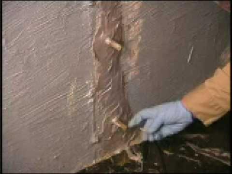D I Y Foundation Wall Crack Repair Stop Water Leaks