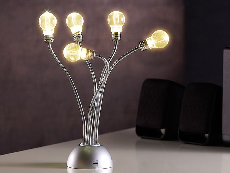 #Sound Sensor LED Lampe Im Glühbirnen Design, Warmweiß. Ein