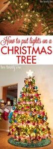 How to Put Lights on a Christmas Tree twotwentyone.net