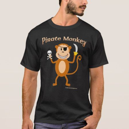 Pirate Monkey t-shirt - click/tap to personalize and buy