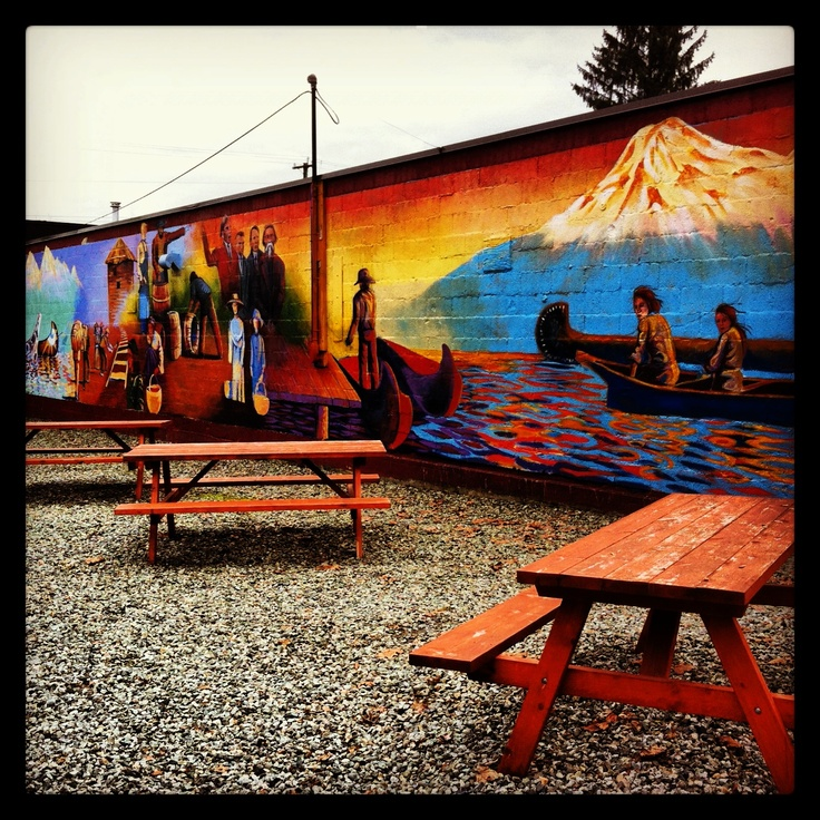This cozy picnic space is hidden down Gasoline Alley in Fort Langley