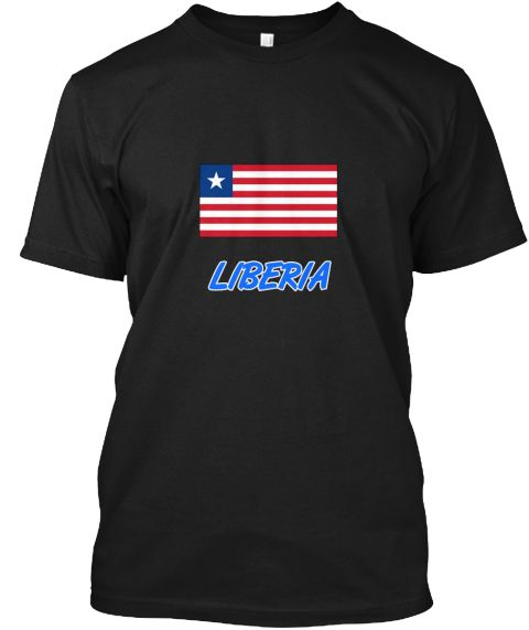 Liberia Flag Artistic Blue Design Black T-Shirt Front - This is the perfect gift for someone who loves Liberia. Thank you for visiting my page (Related terms: I Heart Liberia,Liberia,Liberian,Liberia Travel,I Love My Country,Liberia Flag, Liberia Map,Liberia  #Liberia, #Liberiashirts...)