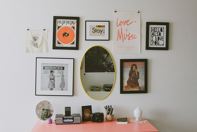 I like the little art and music stuffs   Studio Apartment Tour | Flickr – Photo