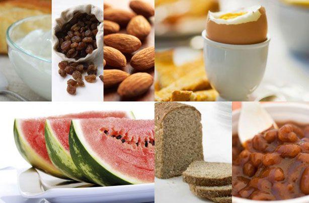Breakfast under 100 calories - Sultanas, Greek yogurt and almonds - goodtoknow