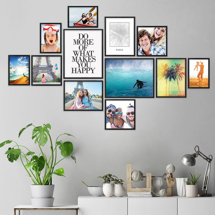Picture walls have a very special charm and give your own home …