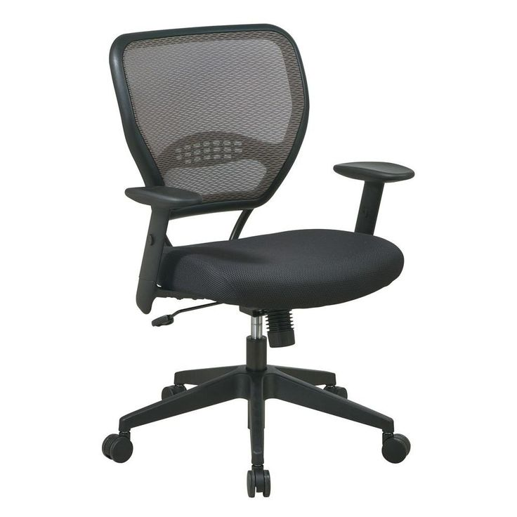 Office Star Products Deluxe Black Airgrid Back Manager Office