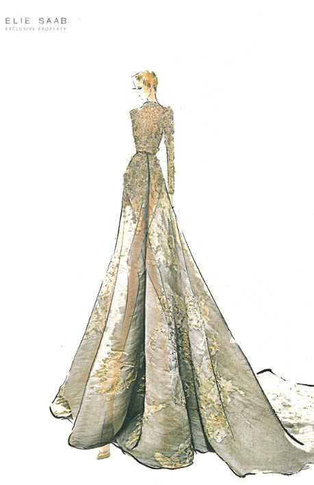 Sketch From Elie Saab Huate Couture AW 2012 Gorgeous