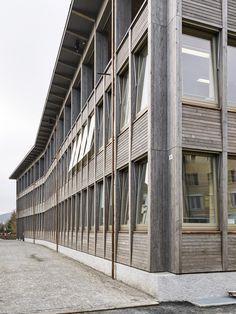 Ecke Holzbau Bürogebäude
