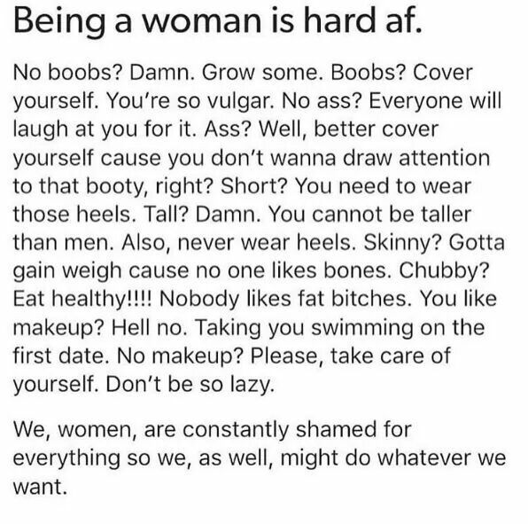 Do what you want.  You'll be judged anyways....