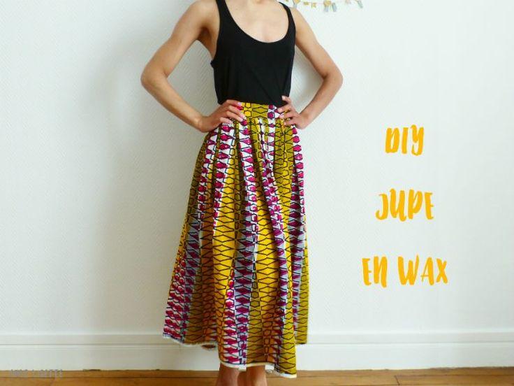 DIY jupe en wax - Voir midi à sa porte - Chez Lisette