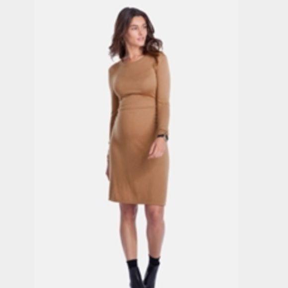 Isabella Oliver maternity dress Camel colored knit maternity dress. Zipper back. Super comfy and only worn once! Isabella Oliver Dresses