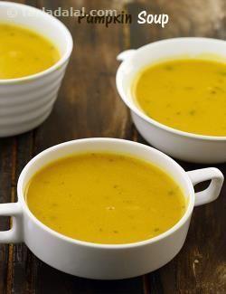 Pumpkin Soup ( Low Calorie Healthy Cooking ) recipe   by Tarla Dalal   Tarladalal.com   #32987