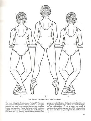 Free ballet coloring page with terminology explained.