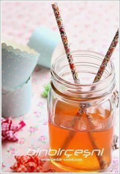 BİNBİRÇEŞNİ: Ev Yapımı Şeftalili/Nektarinli Ice Tea (Soğuk Çay)