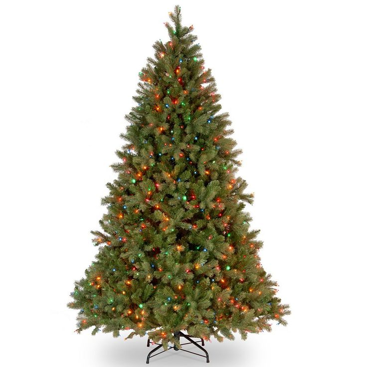 7.5-ft. Pre-Lit Multicolor ''Feel Real'' Downswept Douglas Fir Artificial Christmas Tree, Green