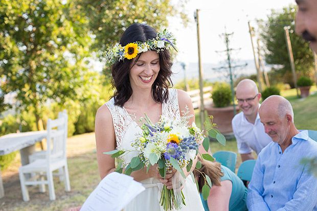 "Happy to be featured on One Fab Day with one of our coolest wedding of 2016. . ""Tuscan Boho: Ines & Francesco's Italian Destination Wedding Tattoos, sunflowers and a very special vintage dress."""