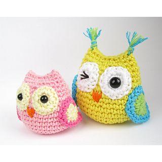 Tiny Amigurumi Owls by Kristi Tullus  Free Pattern: http://www.ravelry.com/patterns/library/tiny-amigurumi-owls  June 2013 #TheCrochetLounge #Owl Pick