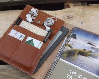 LEATHER FOLIO large holds Large Moleskine Notebooks by HOUSEofLH