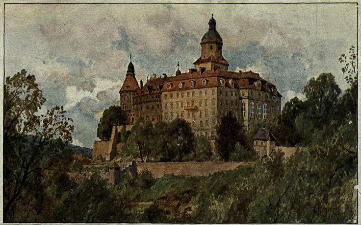 Zamek Książ (Schloss Fürstenstein, Fürstenberg), Wałbrzych - 1925 rok, stare zdjęcia