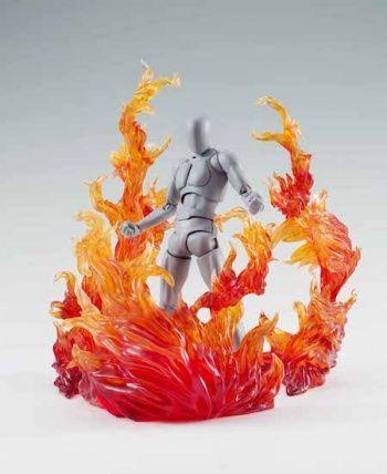 efecto llamas de fuego rojo para soporte tamashii stage #Akiba
