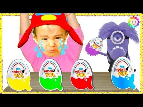 Bad Baby crying and learn Colors with Surprise Eggs- Colors Nursery Rhym...