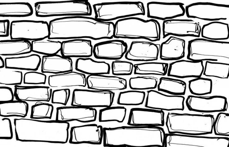 берегу кирпичная стена рисунок карандашом цветная этого
