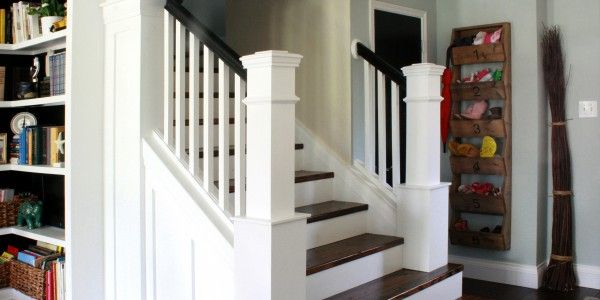 Entry and Staircase Makeover Reveal from Cassity @ Remodelaholic!  Love this.