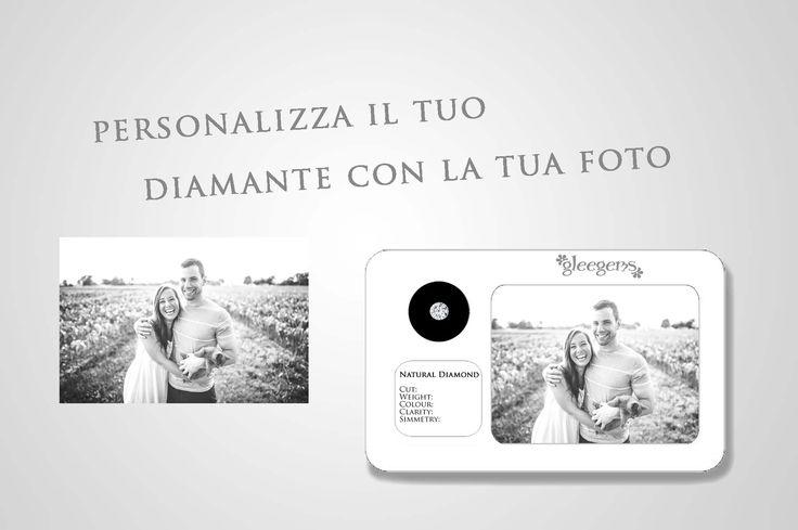 Rendi unica la tua Gleegems con la tua foto personalizzata  #regalo #idearegalo #diamante #gift #love #compleanno