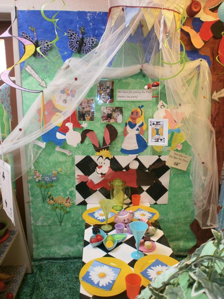 Alice In Wonderland Classroom Decoration Ideas ~ Alice in wonderland s tea party role play area school