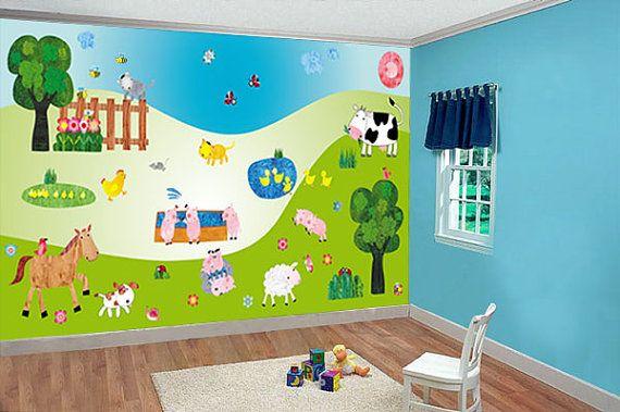 Wall decals nursery children wall sticker wall by NurseryWallDecor, $149.00