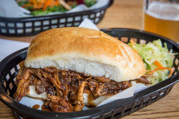Ossington Stop -pulled pork sandwich with slaw ($6)