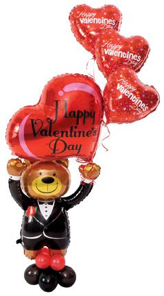 #441 Special Delivery Valentine Bear   This Design Can Be Prepared Days  Ahead Since The
