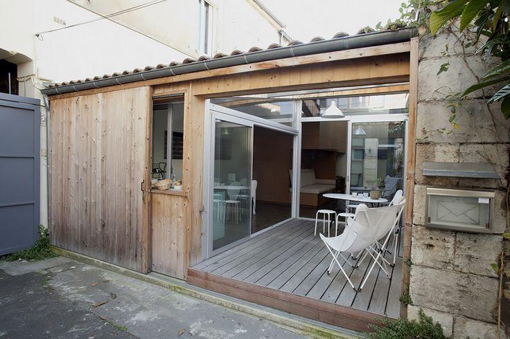 Un garage transformé en mini-loft à Bordeaux