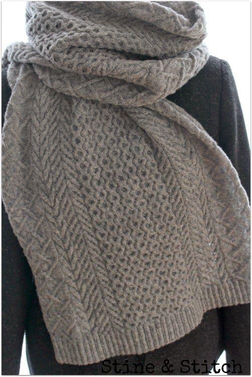 Viele Zöpfe, schön breit, tolles Garn = warmer Hals ♥ | Knitting ...