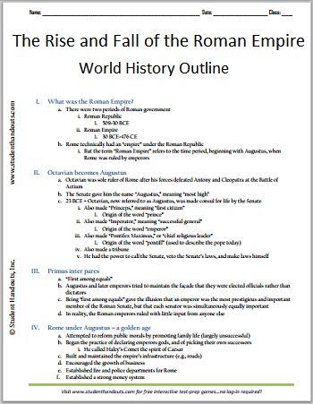 Roman empire essay