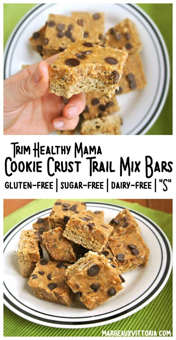 Cookie Crust Trail Mix Bars (Trim Healthy Mama S) Gluten-Free, Sugar-Free, Dairy-Free! | Margeaux Vittoria