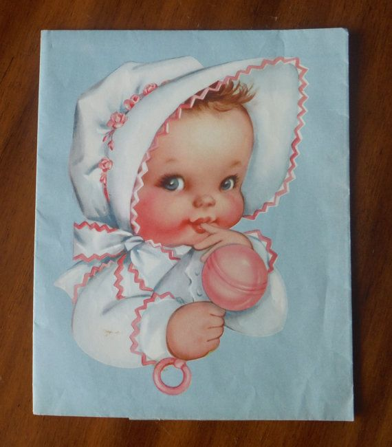 Delightful Vintage Baby Wrapping Paper - Unusual Baby Girl Baby Boy Gift Wrapping Paper - Vintage Baby Gift Wrap - Cute Baby Gift Wrapping