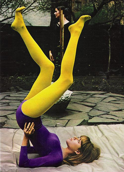 October 1967. 'Danskins are not just for dancing. They're for isogenics, exercising, or exercycling.'