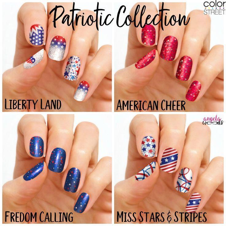 Patriotic Nail Collection Color Street Nails French Nails Nails