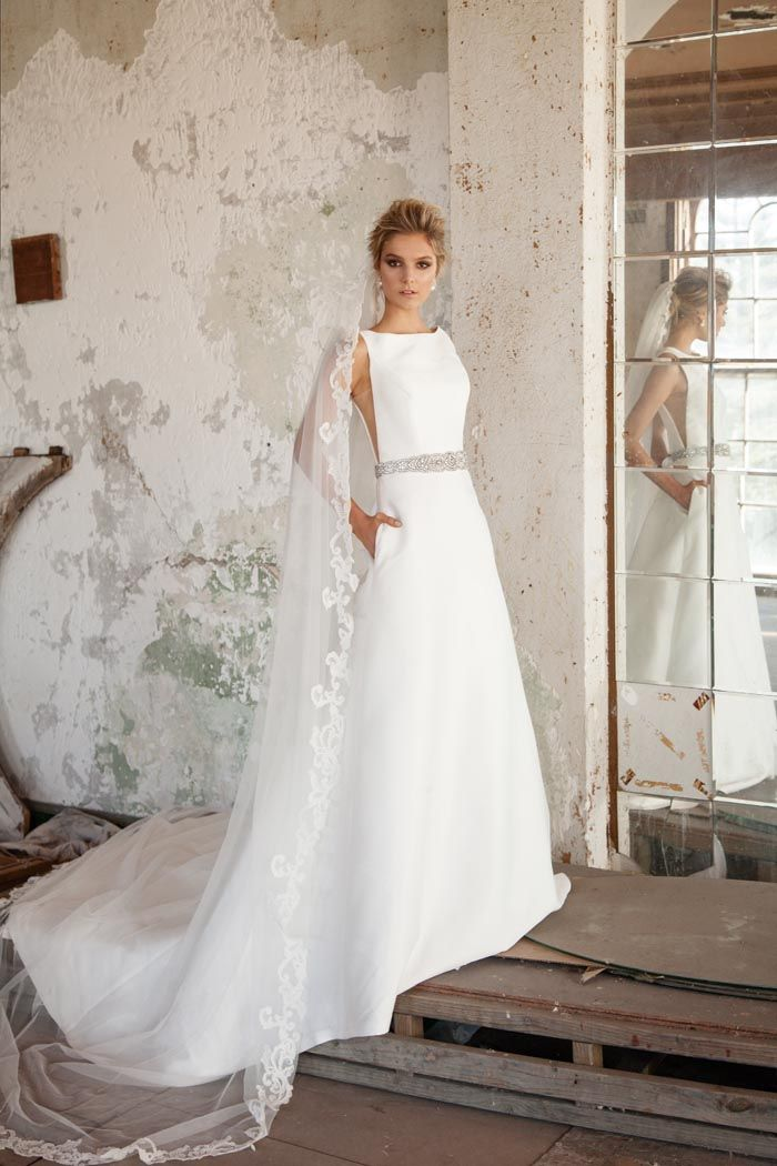 1581 best wedding dresses gowns images on pinterest homecoming 40 simple wedding dresses with standout details junglespirit Image collections