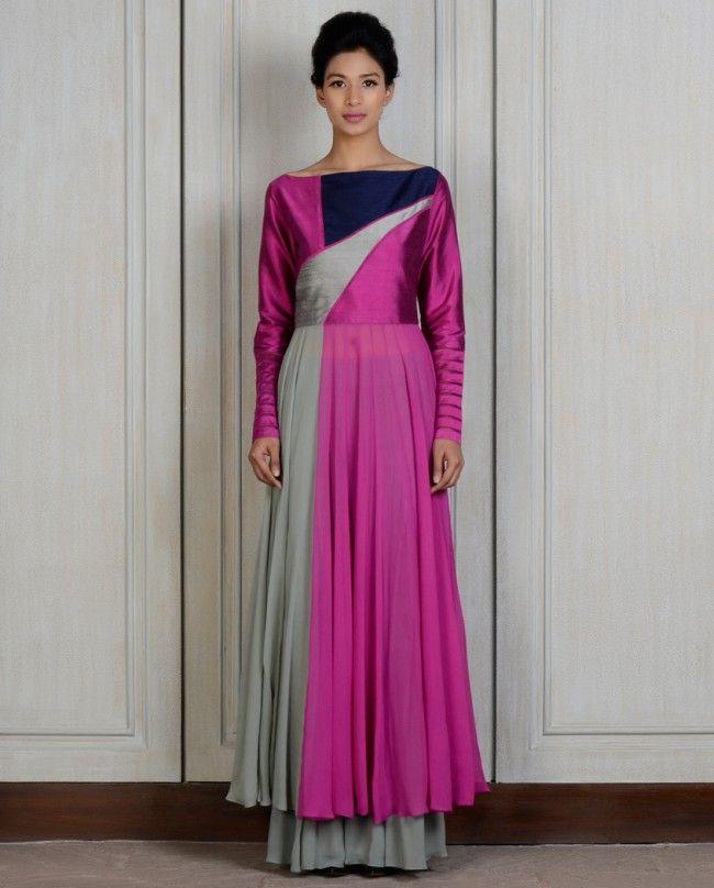 Purple Panelled Kalidar